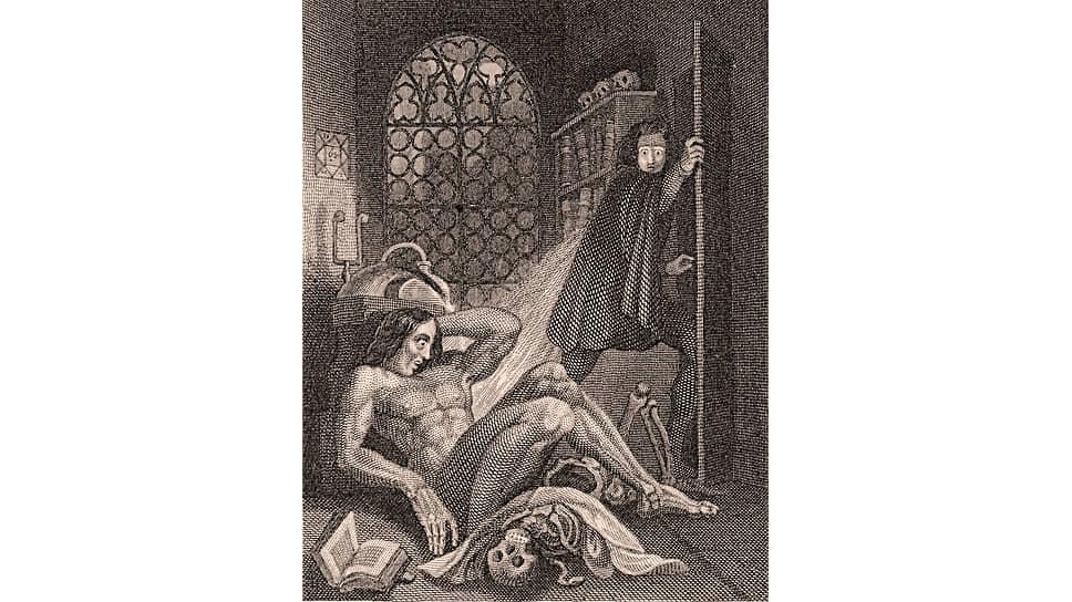 Теодор фон Холст. Иллюстрация к «Франкенштейну», 1831