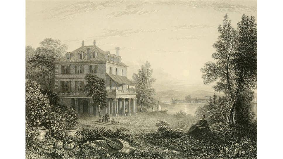 Уильям Пёрсер. «Диодати, резиденция лорда Байрона», 1833