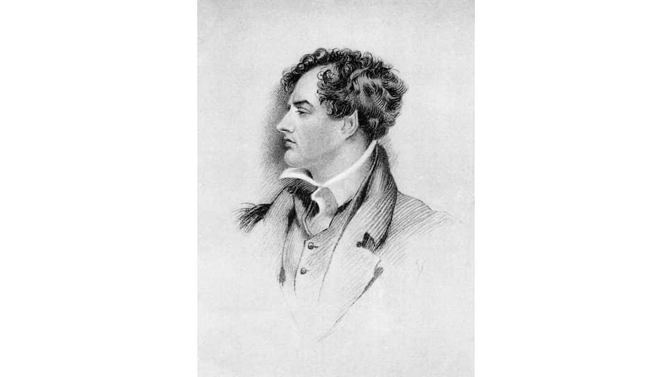 Джордж Генри Харлоу. «Портрет Джорджа Гордона Байрона», 1816