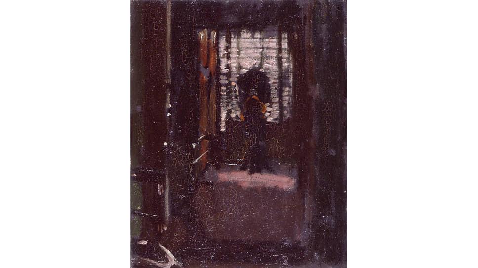 Уолтер Сиккерт. «Спальня Джека-потрошителя», около 1907. По распространенной теории, именно Сиккерт был Джеком-потрошителем. В частности, эту версию отстаивает английская писательница и автор детективов Патриция Корнуэлл, посвятившая Сиккерту уже две книги.