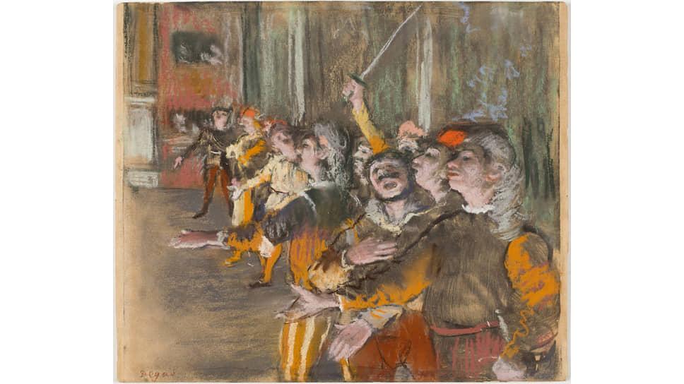 Эдгара Дега. «Хористы», 1877