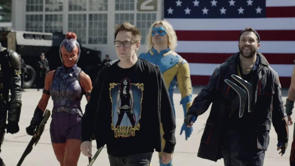 Джеймс Ганн на съемках фильма «Отряд самоубийц: Миссия навылет», 2020