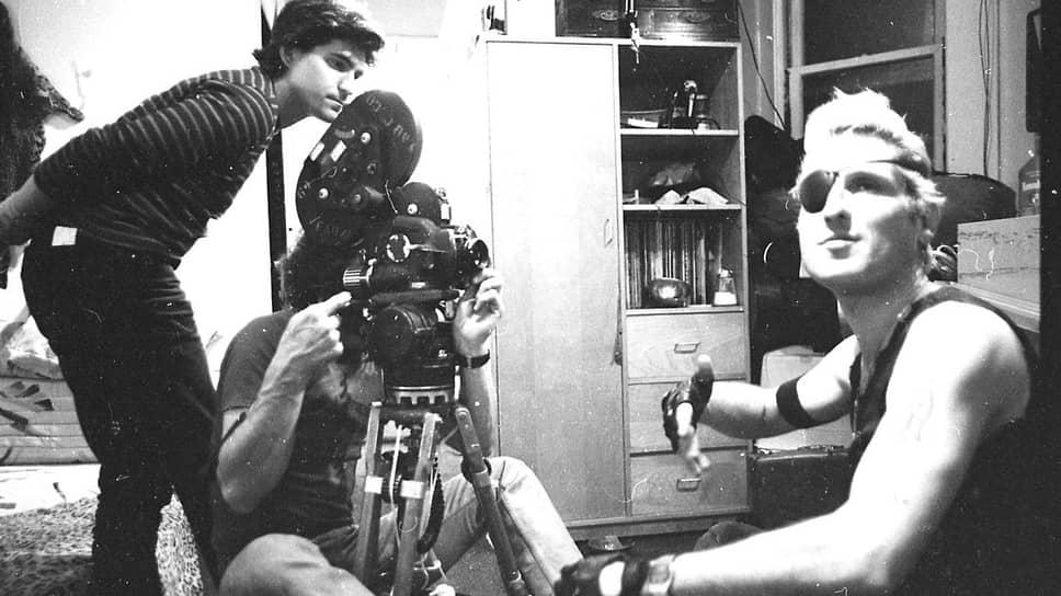 Лех Ковальски и Джон Спейсли на съемках фильма «Гринго», 1985 год