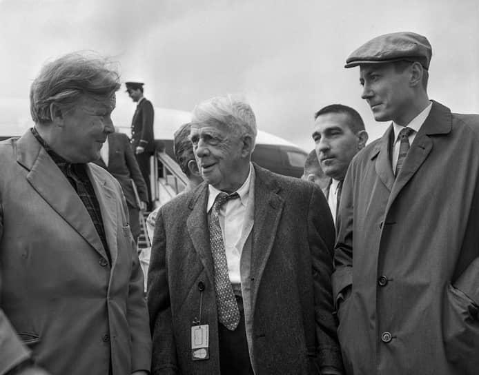 Александр Твардовский, Роберт Фрост и Евгений Евтушенко, 1962