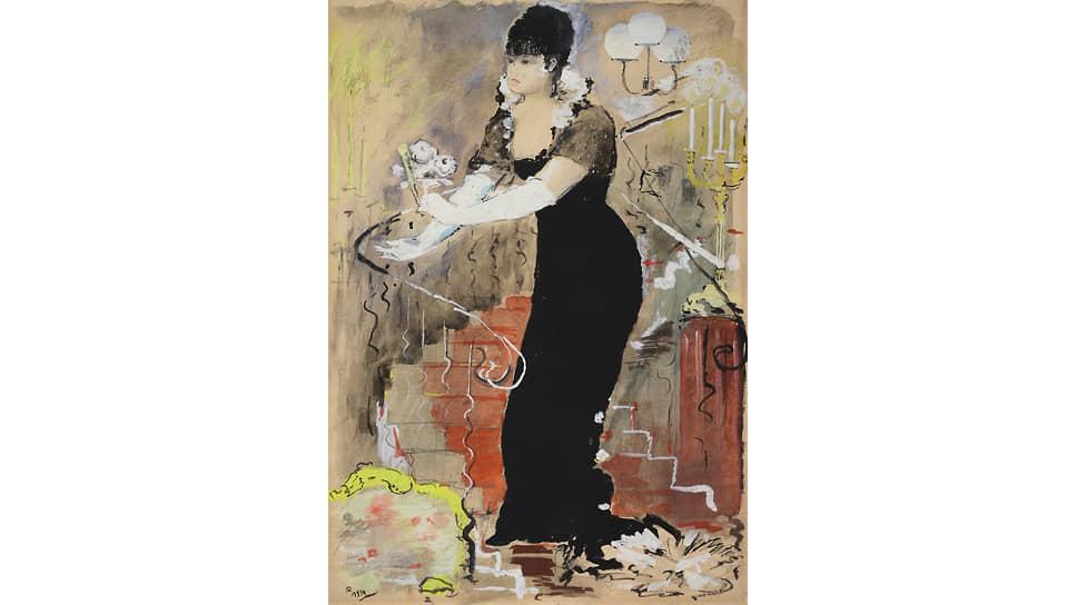 "«Портрет Зинаиды Райх в ""Даме с камелиями""», 1934"
