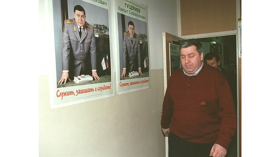 Ингушетия. Хамзат Гуцериев (на плакате) и его брат — глава компании «Славнефть» Михаил Гуцериев — отказались добровольно выйти из президентской кампании. Поэтому Хамзата сняли с дистанции за преждевременную агитацию