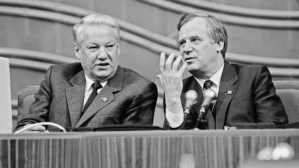 Среди воспитанников Якова Рябова — последний премьер Советского Союза Рыжков (справа) и первый президент России Ельцин
