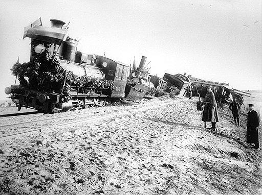 При крушении поезда Александра III (на фото) наибольшие повреждения получил устаревший вагон министра путей сообщения Константина Посьета