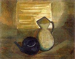 Руку Александры Экстер видели даже в картинах, которые просто хранились в ее доме. Так было с «Композицией» Эстер Шимеровой и с «Натюрмортом» Амелии Пелаес (на фото)