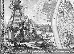 Через прорубленное Петром окно европейские градостроительные идеи устремились на территорию Российской империи (на фото — план города в царствование Елизаветы I)