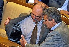 Комитет по собственности: Владимир Пехтин (слева) и Виктор Плескачевский