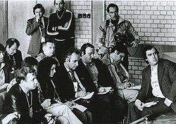 Приехавшие на Олимпиаду журналисты (на фото) тщетно пытались выведать у главы оргкомитета Игнатия Новикова, во сколько обошелся советскому бюджету праздник мира, молодости и спорта