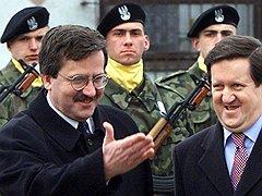 2001. Министр обороны. С генсеком НАТО лордом Джорджем Робертсоном
