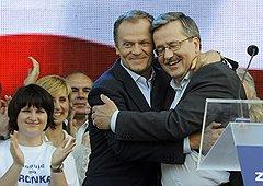 Июнь 2010. И. о. президента Польши. С Дональдом Туском