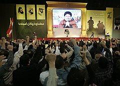 «Хезболла» под руководством Хассана Насраллы (на фото) считает, что Израиль ворует ливанский газ, который необходимо защищать силами бойцов движения и всей ливанской армии