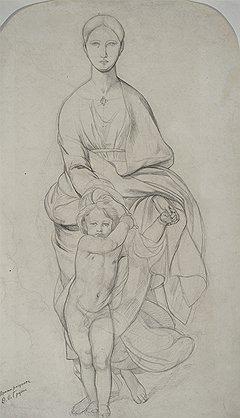 Федор Бруни. «Богоматерь с младенцем»