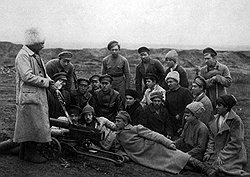 Для бойцов частей особого назначения товарищ Бухбанд служил примером ввиду его особой любви к собственноручному уничтожению контрреволюционеров