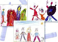 """Согласно брошюре """"Современная семья в рисунках детей. Психологическое исследование особенностей восприятия детьми-дошкольниками отношений в семье с помощью проективной методики """"Моя семья"""""""", выпущенной комиссией по делам несовершеннолетних Юго-Восточного административного округа Москвы, рисунок ребенка может многое рассказать о психологической ситуации у него дома. Так, хорошее отношение к родственникам выражается в их подробном изображении с использованием различных цветов. Схематичность и однотонность, напротив, указывают на наличие в семье проблем"""
