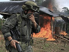 Пока полицейские выжигали кокаиновые лаборатории в Колумбии (на фото), влияние набирали мексиканские наркокартели
