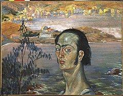 """""""Автопортрет с шеей Рафаэля"""", 1921"""