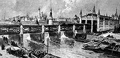 Блестящие перспективы проекта Балинского и Кнорре(на рисунке — центральный вокзал метрополитена) несколько потускнели, когда московская элита посмотрела на него с точки зрения личной выгоды