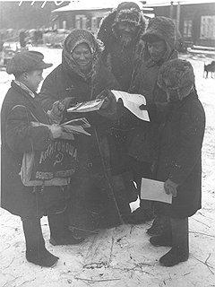 Задача массированного насыщения деревни книгами нередко выполнялась самыми малыми силами