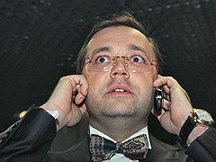 """Гендиректор компании """"РосБизнесКонсалтинг"""" Юрий Ровенский на церемонии награждения премией """"Бренд года"""". <B>2006 год</B>"""