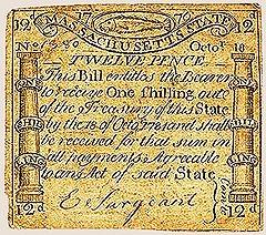 Некоторое время после провозглашения независимости США в стране имели хождение как шиллинги (на фото), так и доллары