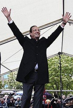 С социалистическим размахом. Лидер французских социалистов Франсуа Олланд. Кемпер, 2012 год