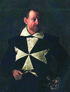 """Караваджо. """"Портрет кавалера Мальтийского ордена"""", 1608 год"""