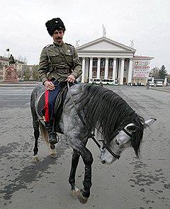 Перед началом казачьего праздника в Волгограде
