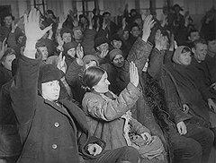 """""""Рабочие и работницы — это помощники НКВД. Они знают, что такое советская власть! Они знают, кому помогают!"""""""