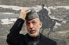 Возможно, уже в 2014 году Хамиду Карзаю (на фото) придется справляться с народными волнениями и противостоять талибам, полагаясь лишь на собственные силы
