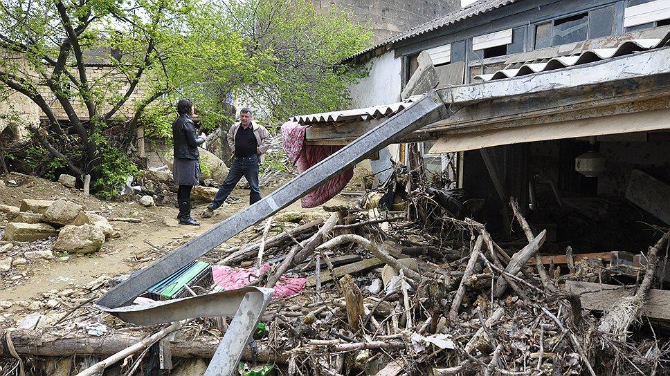 Некоторые дома до сих пор стоят в том же виде, в котором их оставил поток