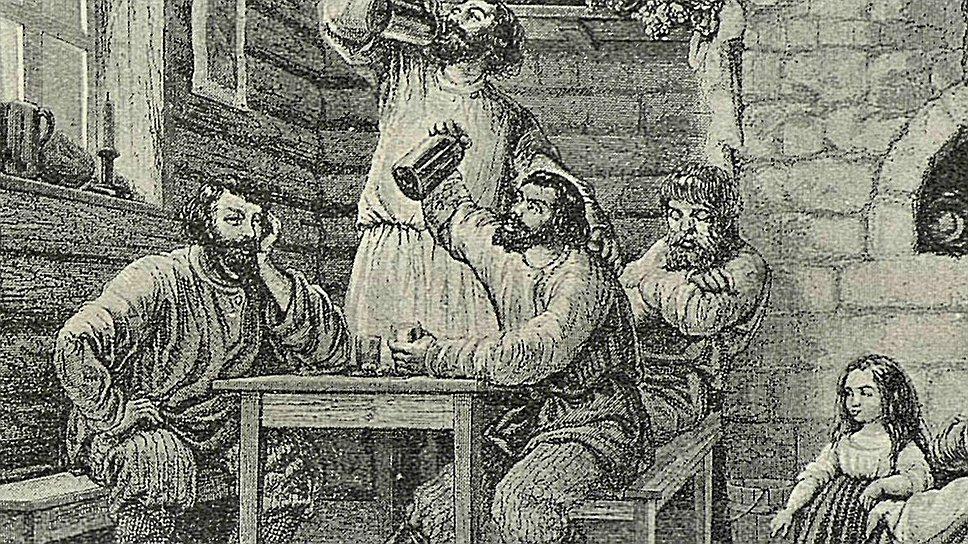 Ввиду отсутствия сносных домов бедные дворяне делали своей гостиной, столовой и спальней ближайший трактир