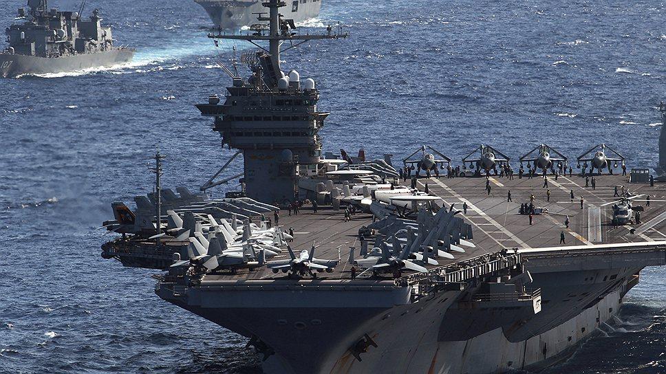 Несмотря на всю мощь экономической дипломатии США, основой их позиции на Тихом океане остаются авианосные группировки