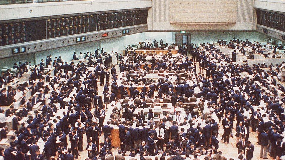 Зачастую спекулятивный бум, как это было с акциями японских компаний в конце 1980-х годов (на фото — Токийская фондовая биржа), приводит к экономическому кризису