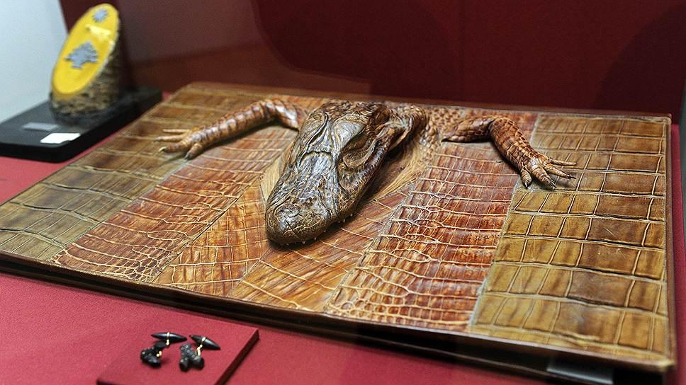 Портфель из крокодильей кожи — подарок бразильских трудящихся товарищу Сталину