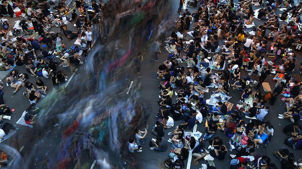 Протесты движения Occupy Central парализовали Гонконг