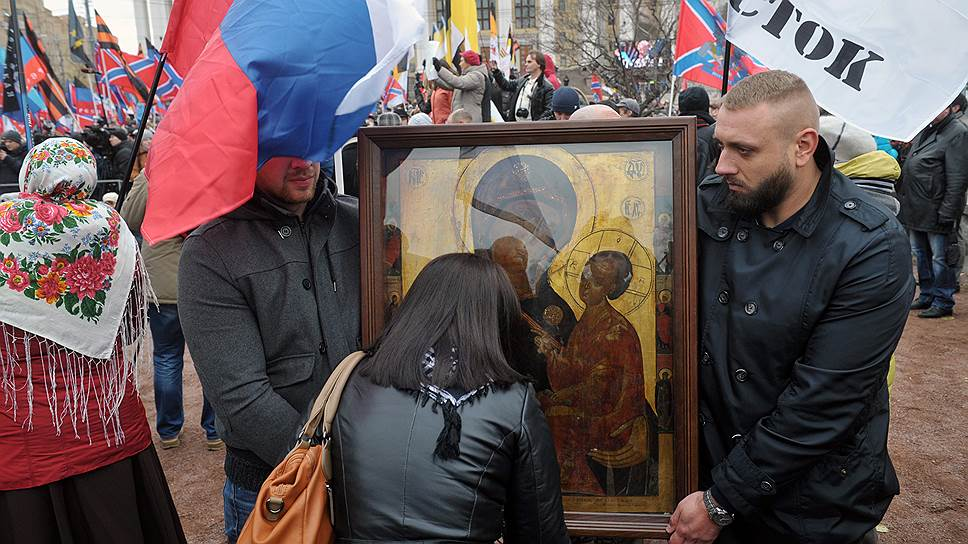 Сторонники воссоединения Крыма с Россией отсчитывают славянскую историю полуострова с крещения Руси