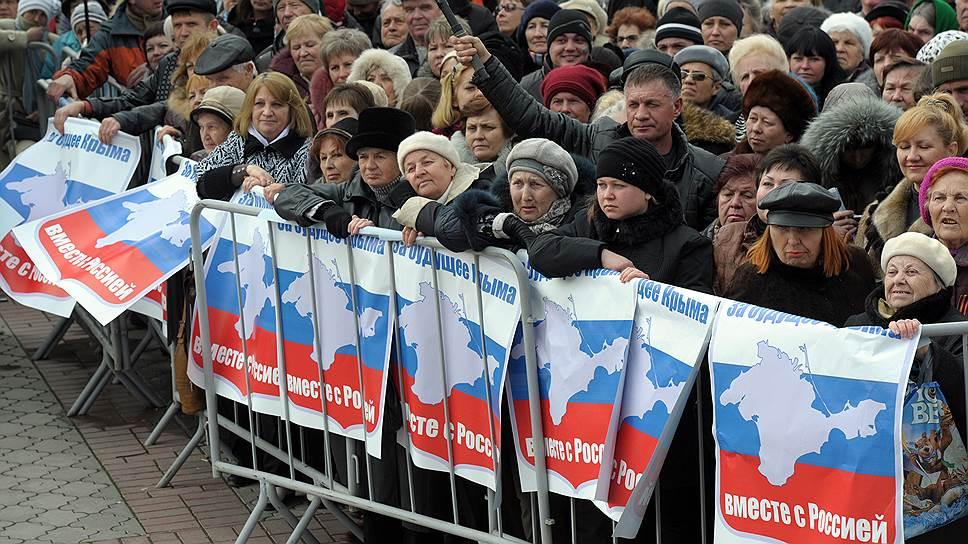 В 1991 году 93% жителей Крыма проголосовали за автономию республики в составе Украинской ССР; в 2014 году 96,7% жителей республики проголосовали за то, чтобы Крым стал субъектом в составе России