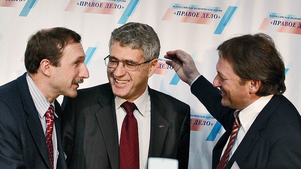 """Георгий Бовт, Леонид Гозман и Борис Титов (слева направо) так и не смогли понять, как эффективно управлять """"Правым делом"""""""