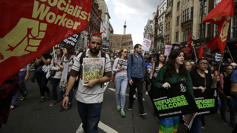 На смену прошлогодним лондонским демонстрациям, поддерживающим привлечение в Великобританию трудовых мигрантов (на фото), пришел Brexit