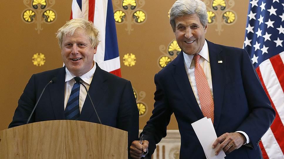 Опасения США по поводу встречи Бориса Джонсона (слева) с Джоном Керри не оправдались