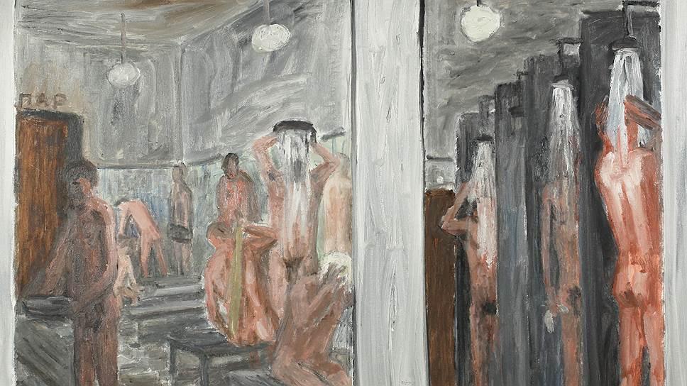 """Городские бани. """"Регулярное посещение бани — залог здоровья, бодрости и красоты. М. Шолохов"""". 1996"""