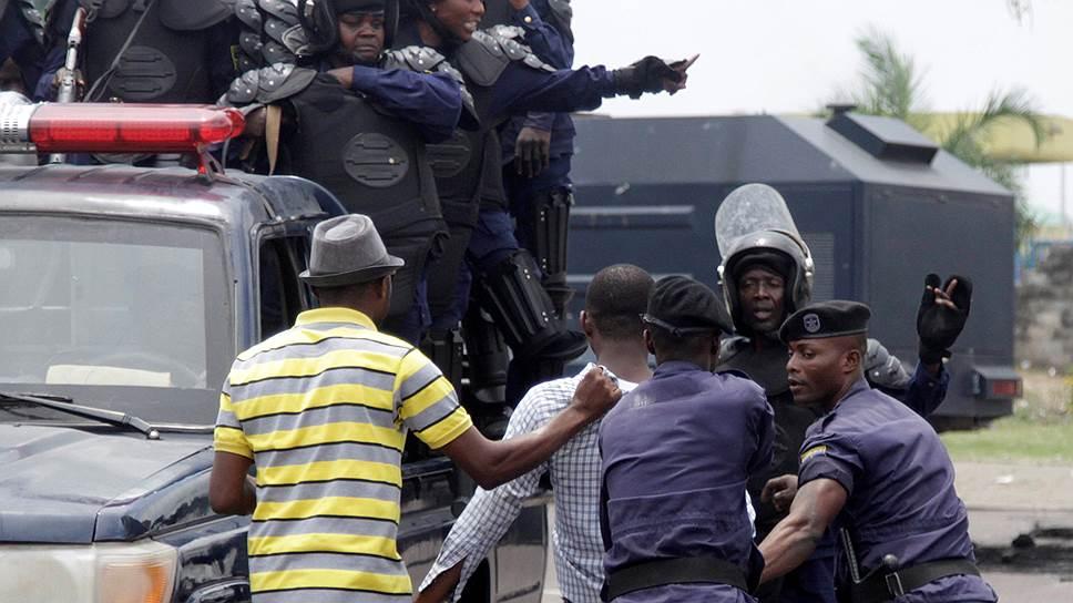 На действия конголезской полиции в скором времени может отреагировать ООН