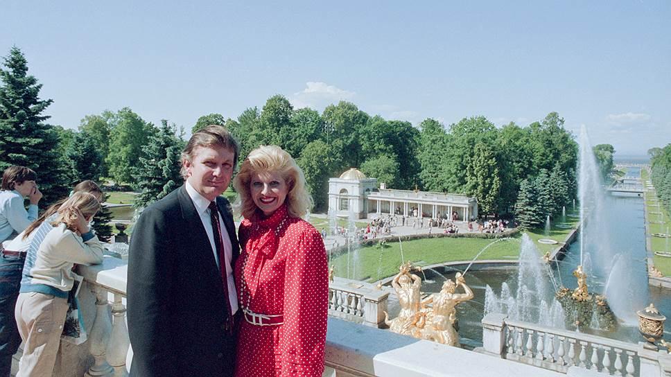 С супругой Иваной. Петродворец, 1987 год