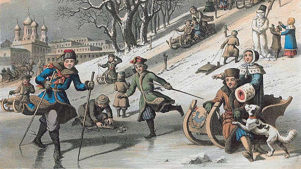 За несколько десятилетий катание на коньках из детской забавы превратилось в светское времяпрепровождение