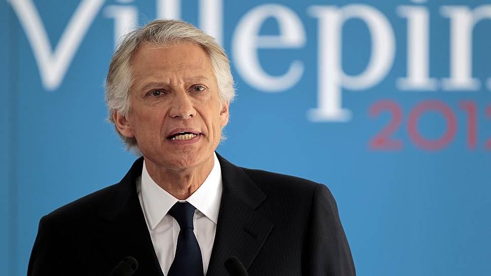 Министр иностранных дел Доминик де Вильпен (на фото) настолько увлекся сбором компромата на своего соперника Никола Саркози, что впоследствии был обвинен в клевете