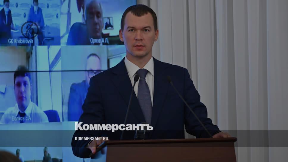 Дегтярев пока не намерен общаться с протестующими